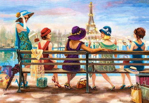 Puzzle Girls Day Out - 1000 pièces - Castorland 14468