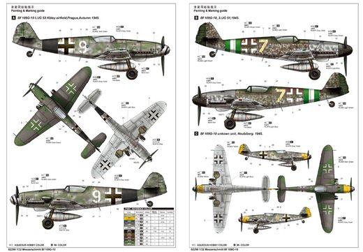 Maquette avion militaire : Messerschmitt BF-109G10 1944 - 1:32 - Trumpeter 02298