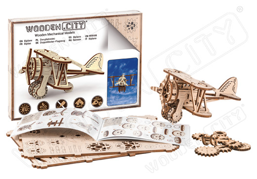 Puzzle 3D / Maquette bois avion Biplan