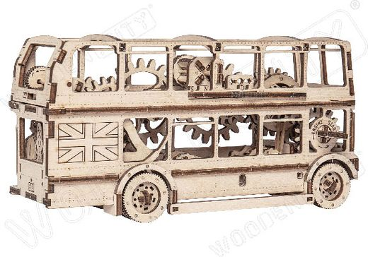 Jouet en bois - Bus londonien monté - Wooden City XDMLBG
