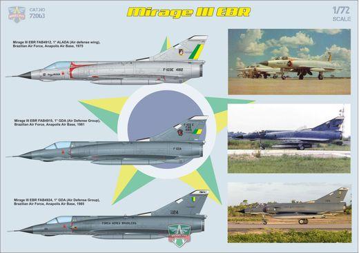 Maquette avion : Mirage IIIB operational trainer - 1:72 - Modelsvit 72060