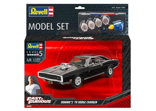Boîte maquette voiture : Model Set F&F Dominics 1970 Dodge Charger 1:25 - Revell 67693