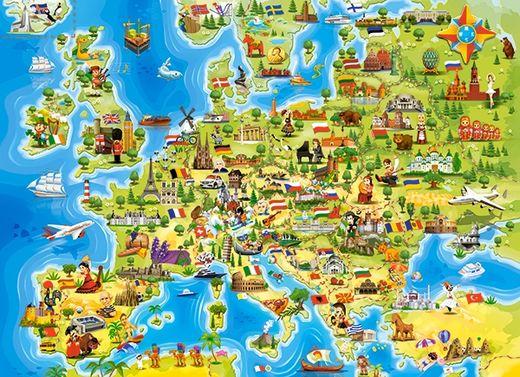 Puzzle Carte d'europe 100 pièces - Castorland 111060