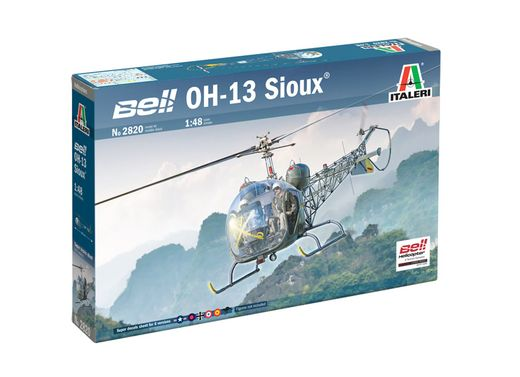 Maquette avion militaire : OH‐13 Sioux ‐ 1:48 - Italeri 2820 02820