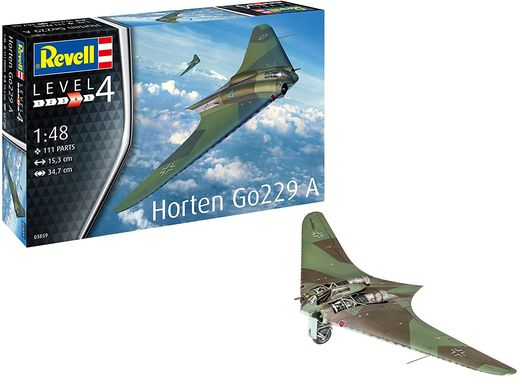 Maquette avion militaire : Horten Go229 A-1 - 1:48 - Revell 03859, 3859