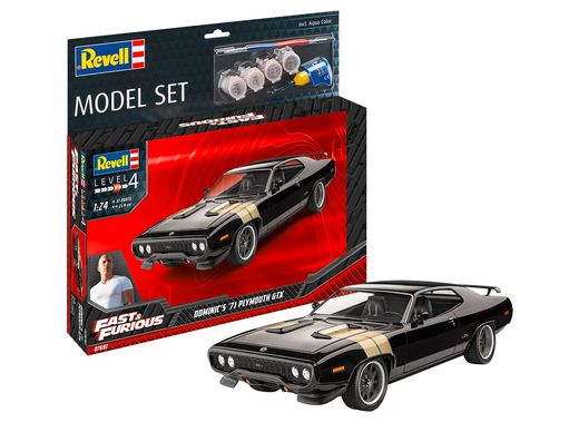 Boîte maquette voiture : Model Set F&F Dominics 1971 Plymouth Gtx 1:24 - Revell 67692