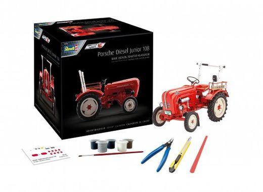 Maquette Easy-Click Tracteur : Calendrier De L'Avent Porsche Junior 108 1:24 - Revell 01036, 1036