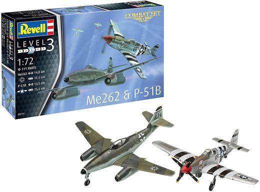 Maquette avions : Combat Set Me262 & P-51B - 1:72 - Revell 03711, 3711