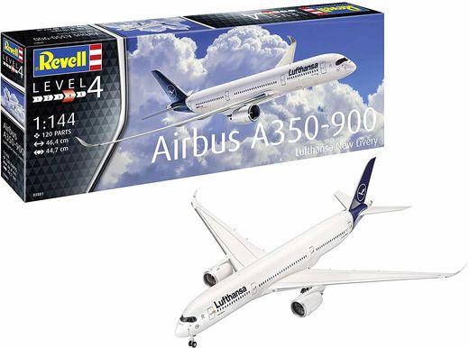 Maquette avion civil : Airbus A350-900 Lufthansa New Li - 1:144 - Revell 3881 03881