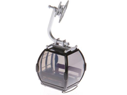 Télécabine oméga noire pour téléphérique miniature - 1:32 - JC 88003