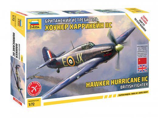 Maquette d'avion militaire : Hawker Hurricane Mk.IIc - 1/72 - Zvezda 07322