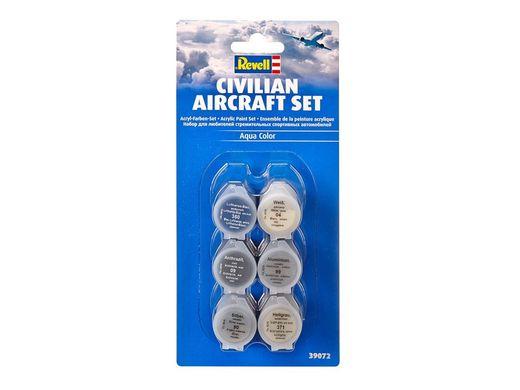 Accessoires de modélisme : Set de peintures acryliques pour avion civil - Revell 39072