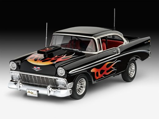 Maquette voiture : 1956 Chevy Customs - 1:24 - Revell 7663, 07663