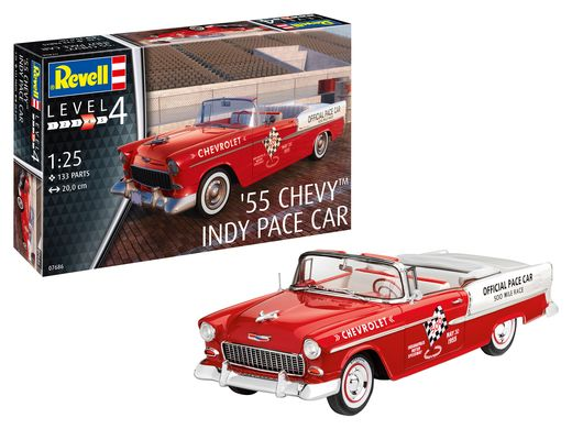 Maquette voiture : 1955 Chevy Indy Pace Carr - 1/25 - Revell 07665 7665