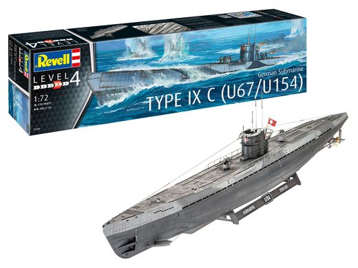 Maquette militaire : Sous-Marin Allemand Type IX C - 1/72 - Revell 5166 05166