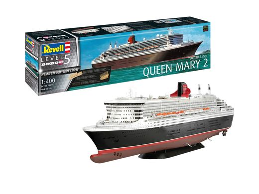 Maquette bateau civil : Queen Mary 2 - 1:400 - Revell 5199 05199