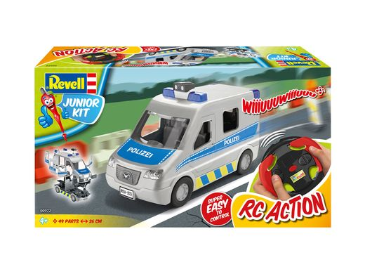 Maquette débutant : Junior Kit Rc Police Van 1:20 - Revell 972 00972