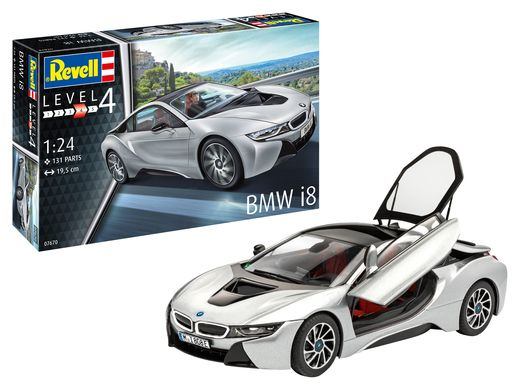 Maquette voiture : BMW i8 - 1:24 - Revell 07670, 7670 - france-maquette.fr