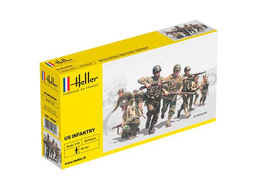Figurines militaires : Infanterie US - 1/72 - Heller 49601 - france-maquette.fr