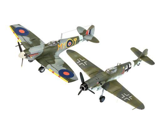 Maquette militaire : Combat Set Bf109G-10 & Spitfire Mk V - 1:72 - Revell 03710, 3710