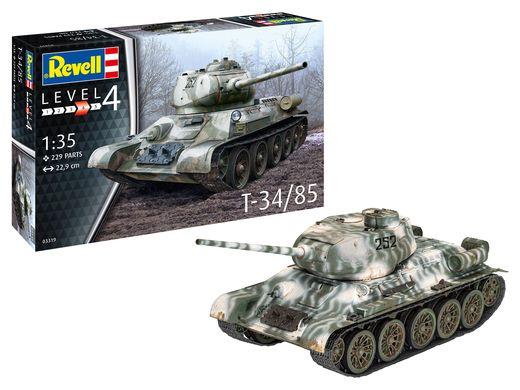 Maquette char d'assaut : T-34/85 - 1:35 - Revell 03319, 3319