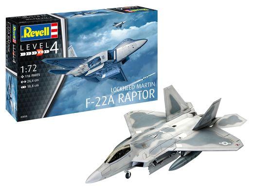 Maquette avion : Lockheed Martin F-22A Raptor - 1:72 - Revell 03858, 3858