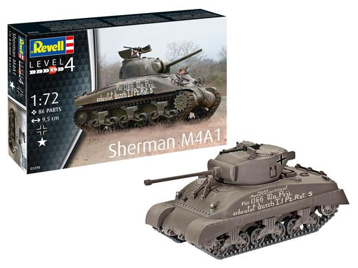 Maquette militaire - Sherman M4A1 - 1:72 - Revell 03290, 3290