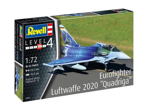 Maquette avion : Eurofighter Luftwaffe 2020 Quadriga - 1:72 - Revell 03843, 3843