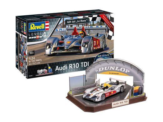 Maquette voiture : Audi R10 TDI Le Mans + décor 3D Puzzle - 1:24 - Revell 05682, 5682
