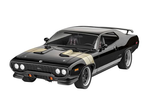 Maquette voiture : Model Set F&F Dominics 1971 Plymouth Gtx 1:24 - Revell 67692