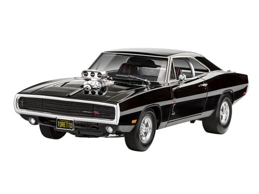 Maquette voiture : Model Set F&F Dominics 1970 Dodge Charger 1:25 - Revell 67693