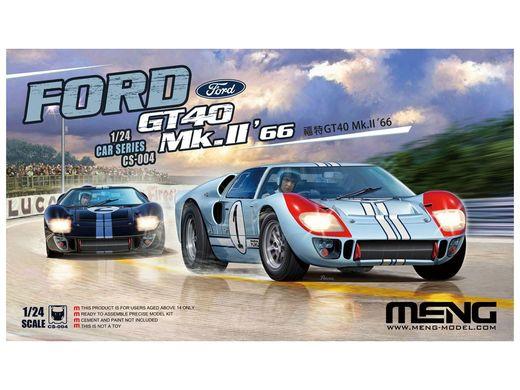 Maquette voiture : Ford GT40 Mk.II 66 - 1:24 - Meng CS004