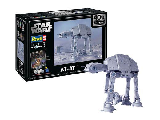 """Maquette Star Wars : AT-AT - 40th Anniversary """"L'empire contre-attaque"""" - 1:53 - Revell 05680, 5680"""
