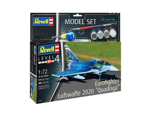 Maquette avion : Model set Eurofighter Luftwaffe 2020 Quadriga - 1:72 - Revell 63843