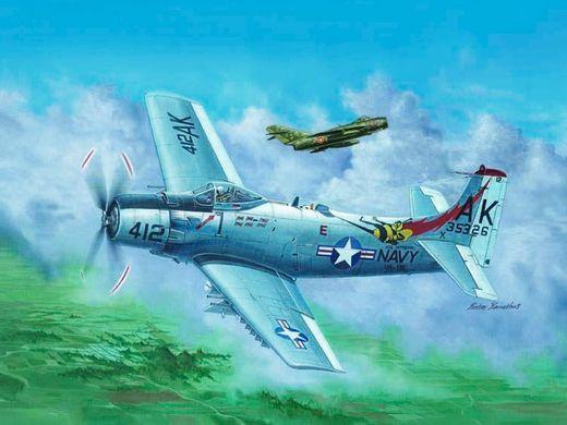 Maquette d'avion militaire : Douglas A-1H AD-6 Skyraider 1966 - Trumpeter 02253