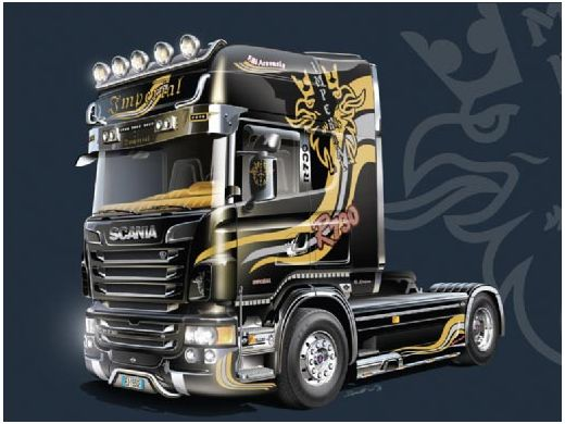 maquette camion scania r730 v8 topline imperial 1 24 italeri 03883. Black Bedroom Furniture Sets. Home Design Ideas