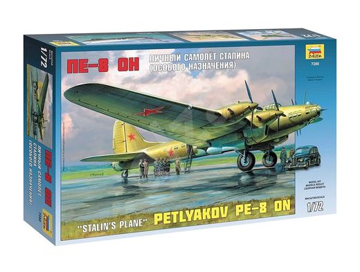 Maquette avion : Petlyakov Pe-8 Staline - 1/72 - Zvezda 07280 7280