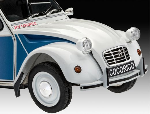 "Maquette voiture : Model Set Citroën 2 CV ""Cocorico"" - 1:24 - Revell 67653 - france-maquette.fr"