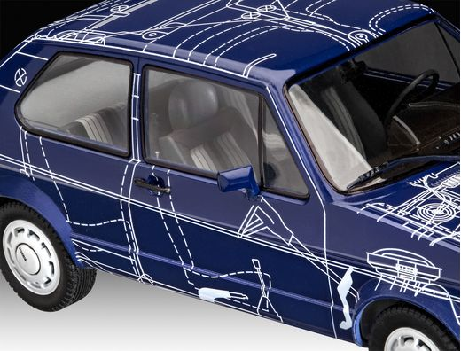 Maquette voiture : Model Set VW Golf Gti - 1:24 - Revell 67673