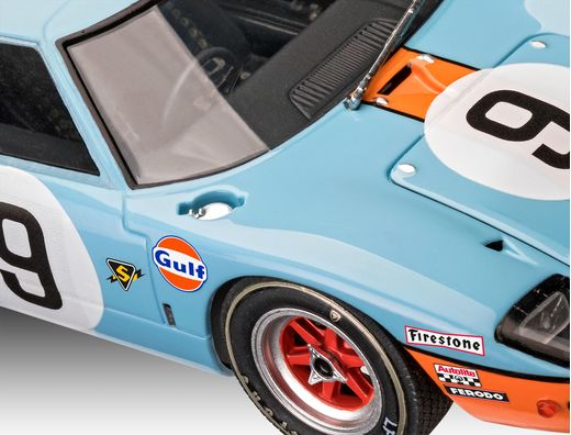 Maquette voiture : Ford Gt 40 Le Mans 1968 - 1:24 - Revell 07696, 7696