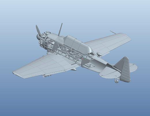 "Maquette d'avion militaire : North American T-6 ""Texan"" 1956 - Kitty Hawk Model 32001"