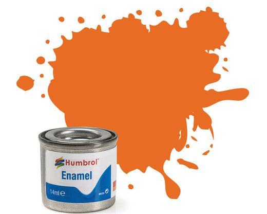 Peinture maquette enamel - Humbrol 18 - Orange Brillant - Humbrol AA0196