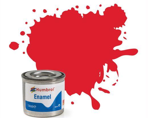 Peinture maquette enamel - Humbrol 19 - Rouge Vermillon Brillant - Humbrol AA0206