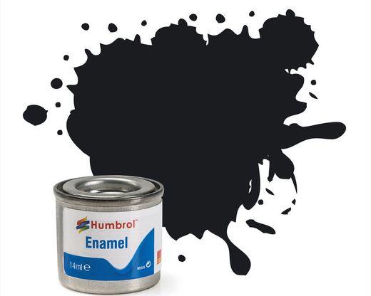 Peinture maquette enamel - Humbrol 21 - Noir Brillant - Humbrol AA0237
