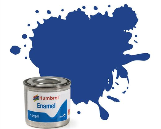 Peinture maquette enamel - Humbrol 25 - Bleu Mat - Humbrol AA0271