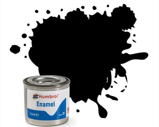 Peinture maquette enamel - Humbrol 33 - Noir Mat - Humbrol AA0360