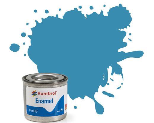 Peinture maquette enamel - Humbrol 48 - Bleu Méditérranée Brillant - Humbrol AA0521
