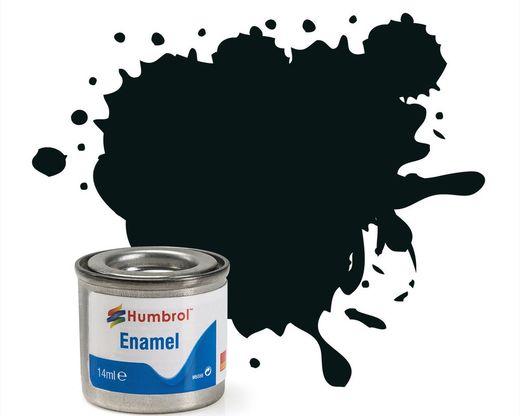 Peinture maquette enamel - Humbrol 91 - Vert Noir Mat - Humbrol AA1002