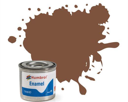 Peinture maquette enamel - Humbrol 186 - Marron Mat - Humbrol AA6224