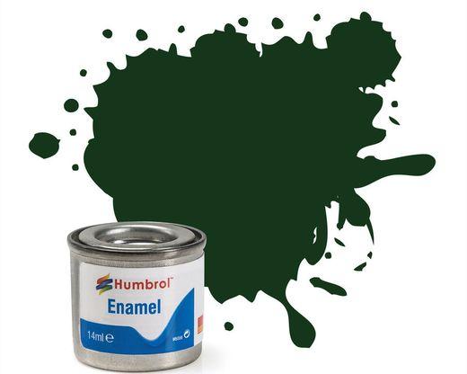 Peinture maquette enamel - Humbrol 195 - Vert Foncé Satiné - Humbrol AA6330
